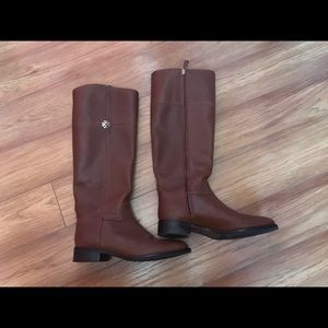 Tan Tory Burch Riding Boots